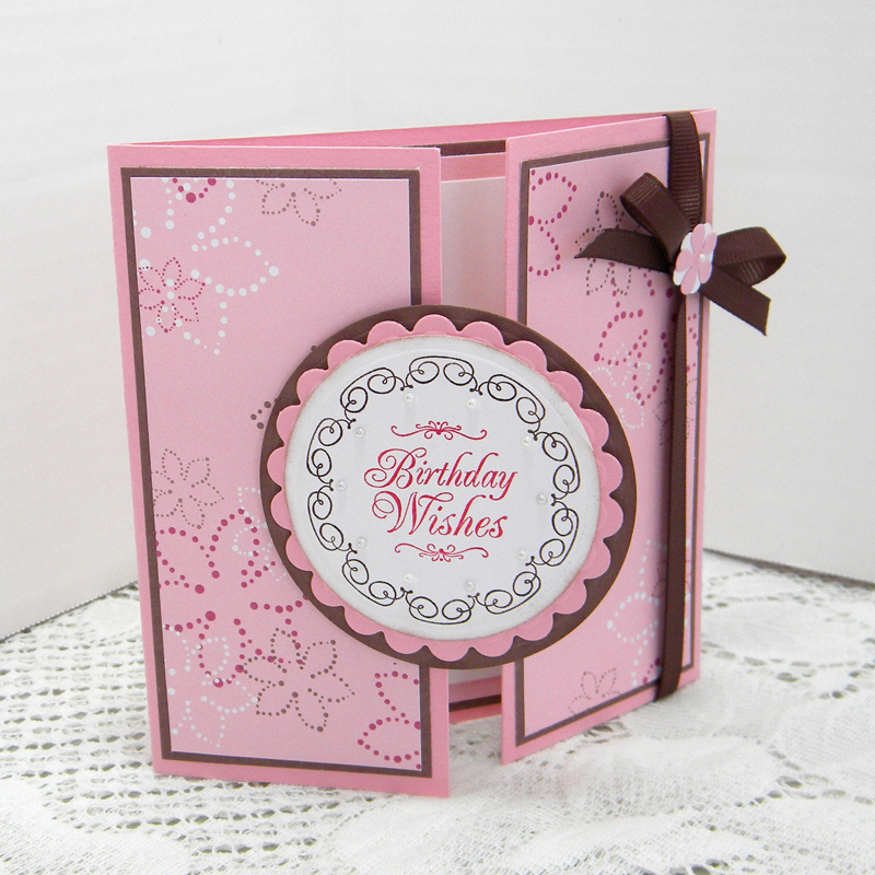 Unique Greetings By Susan K.: Gate Fold Birthday Cards