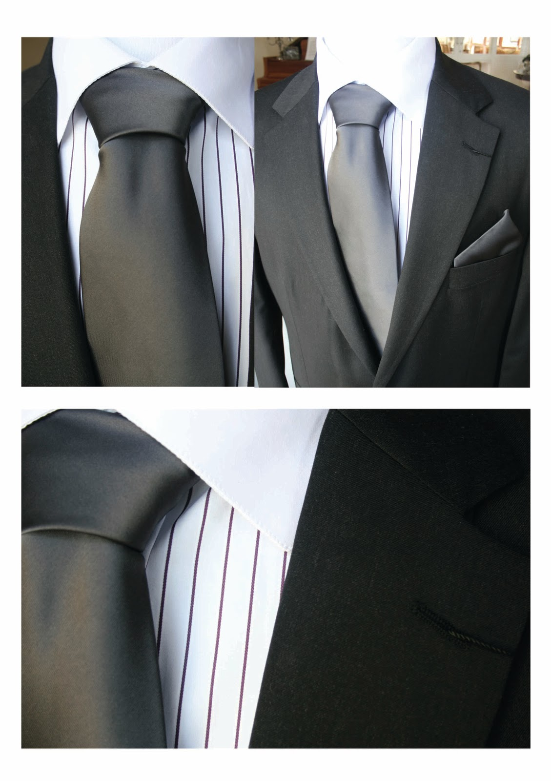 Mens formal wear the moi shop moi styling for Shirt and tie for charcoal suit