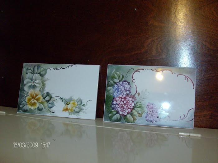 azulejos pintados a mão pela D. Anita