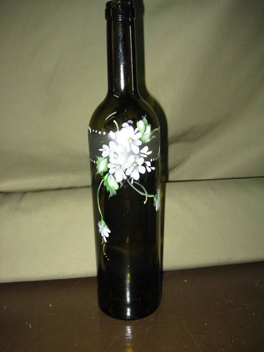 garrafa pintada a mão