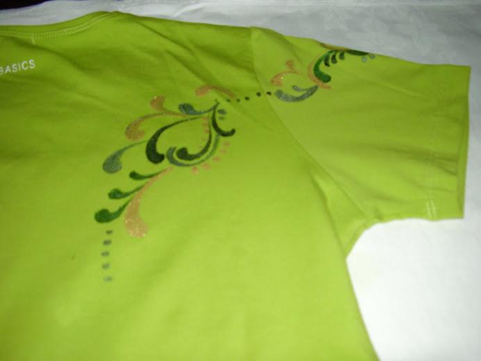 pormenor da camisola da Cláudia