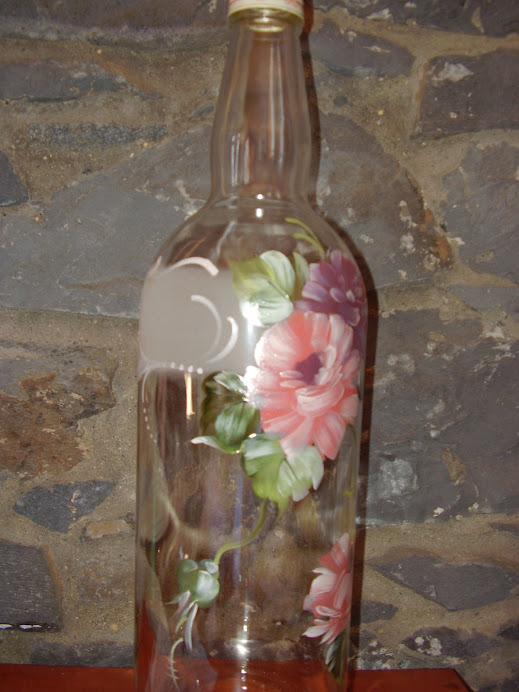 garrafa pintada D. Anita