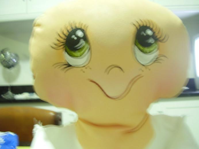 """a boneca """"Anita"""" em acabamento"""