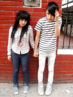 emo boy and emo girl