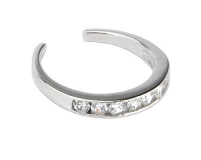 Diamond White Gold Toe Ring