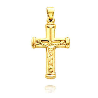 Gold Hollow Crucifix Pendant