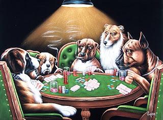 Velvet dogs playing poker chariot a roulette pour faire les courses pas cher