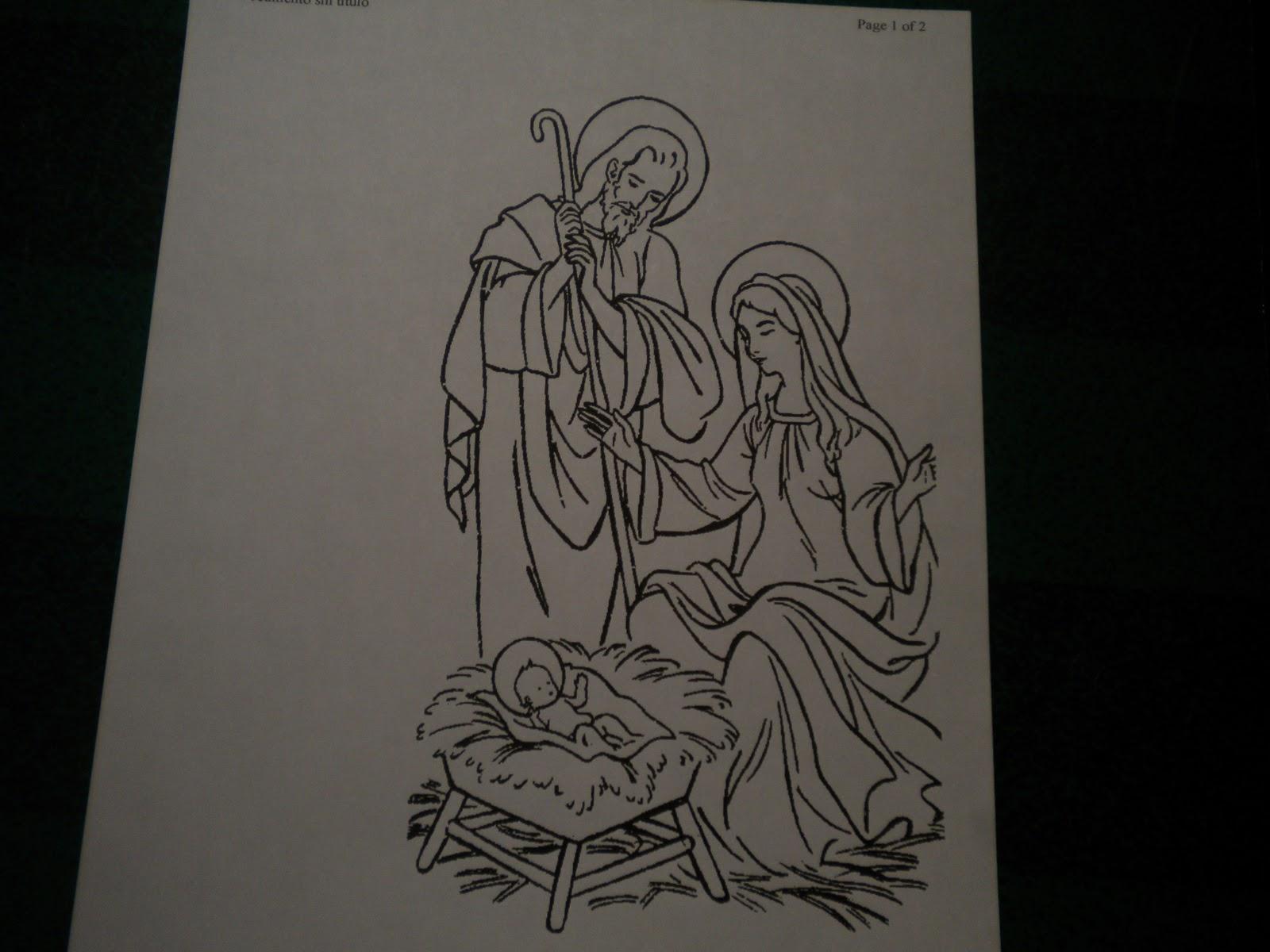 Familia Católica: Más Nacimientos para colorear en Navidad