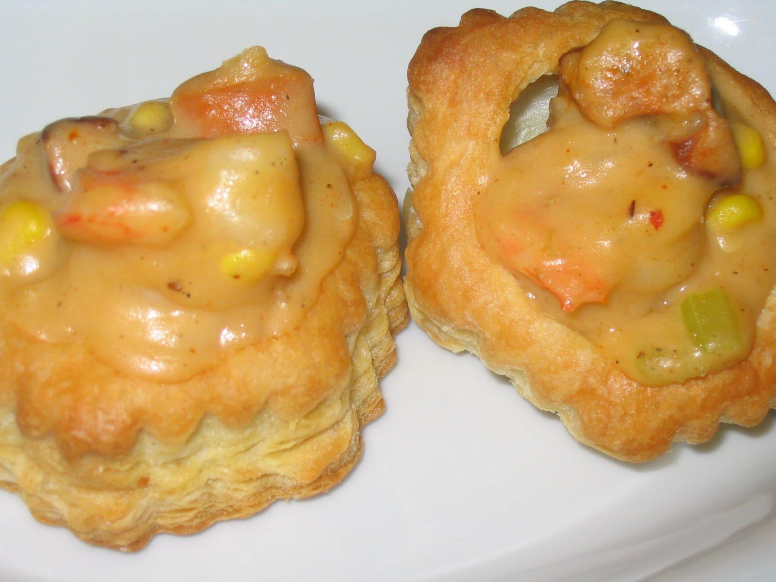Cajun Pot Pies with andouille sausage and shrimp