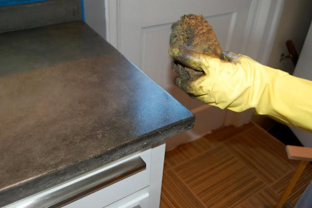 Harmonious posh vintage concrete countertop concoction a for How durable are concrete countertops