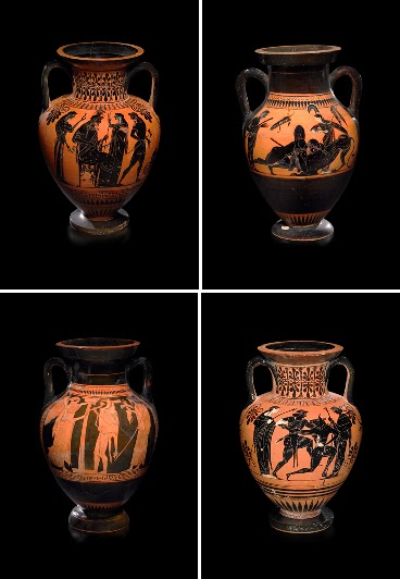 古代美術-古希臘黑繪水甕