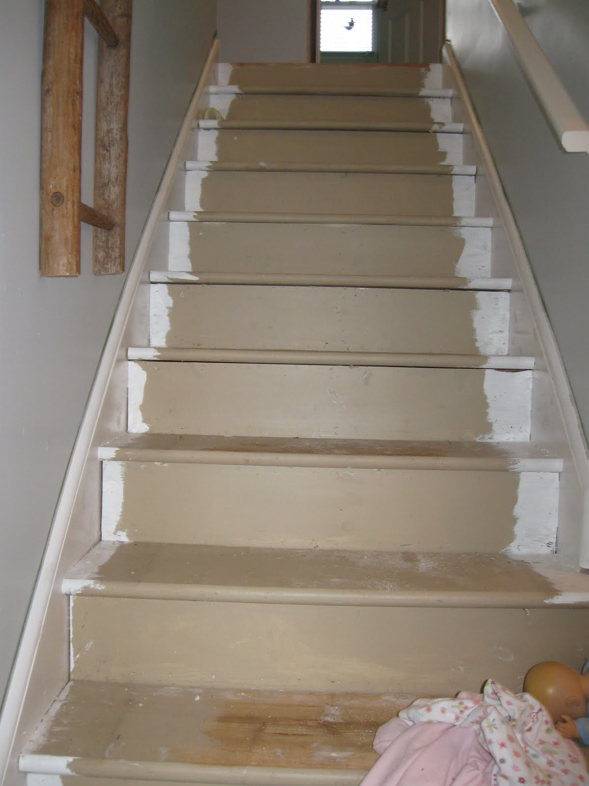 This house we call home staircase makeover for Hang stockings staircase