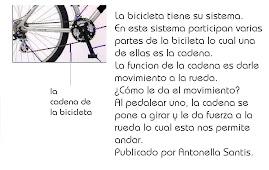 LA CADENA de la bicicleta (publicado por antonella santis)
