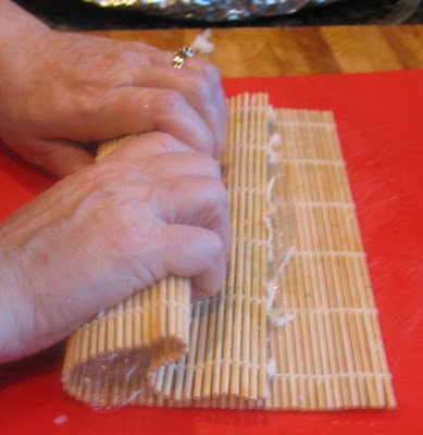 Rolling the Kimbap