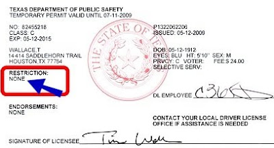 texas driving license test