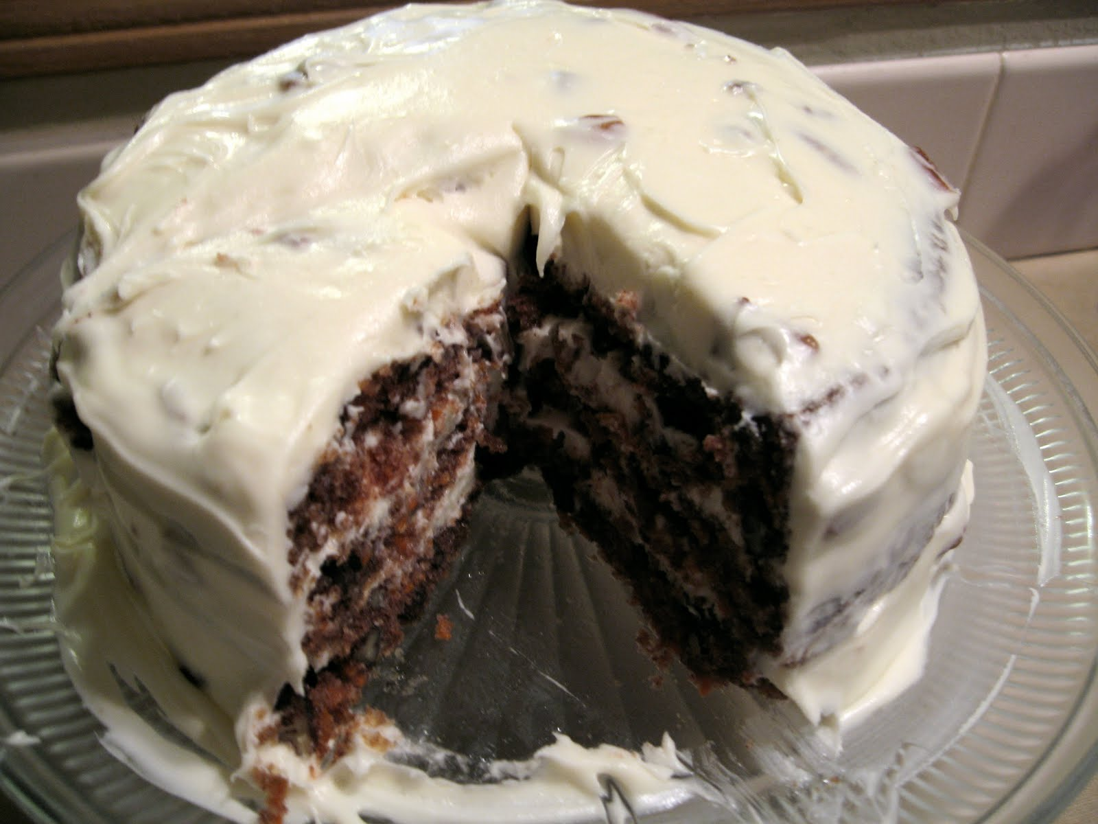 the nonpareil baker: Carrot Pecan Cake with Cream Cheese Frosting