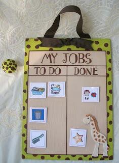 giraffe+chore+chart Weekend Giveaway: Chore Chart