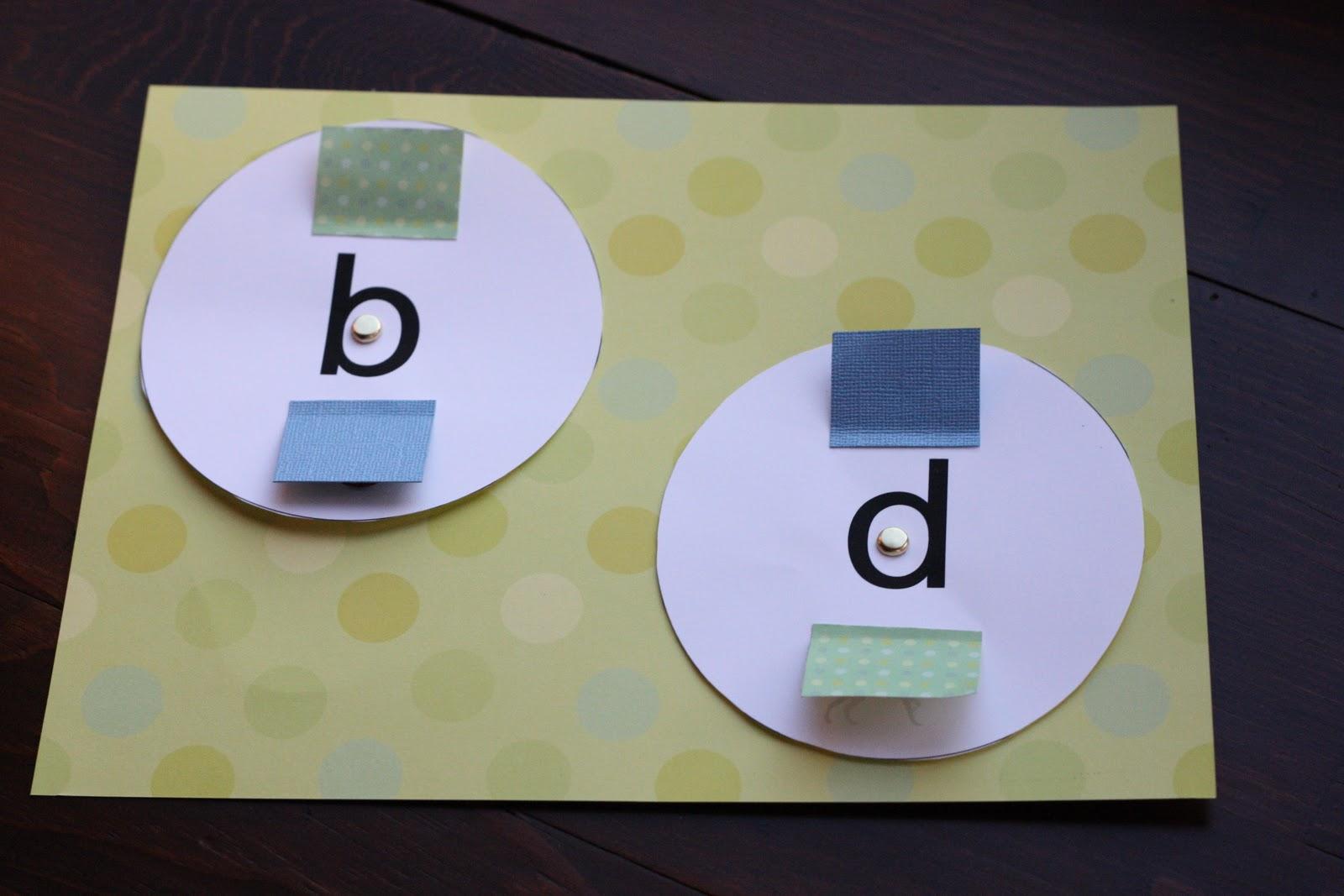 b, d, p, q spinner - I Can Teach My Child!