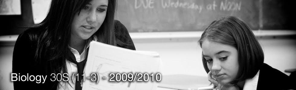 Biology 30S (11-3) - 2009/2010