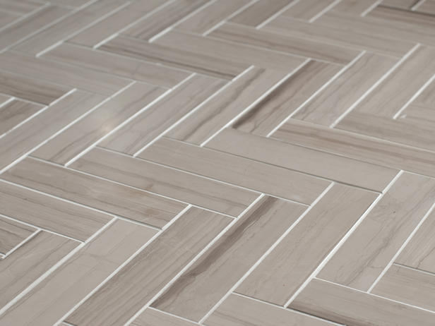 Awesome Marble Herringbone Tile Floor