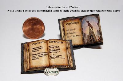 libro miniatura signo del zodiaco