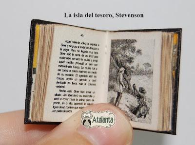 La isla del tesoro Libro miniatura