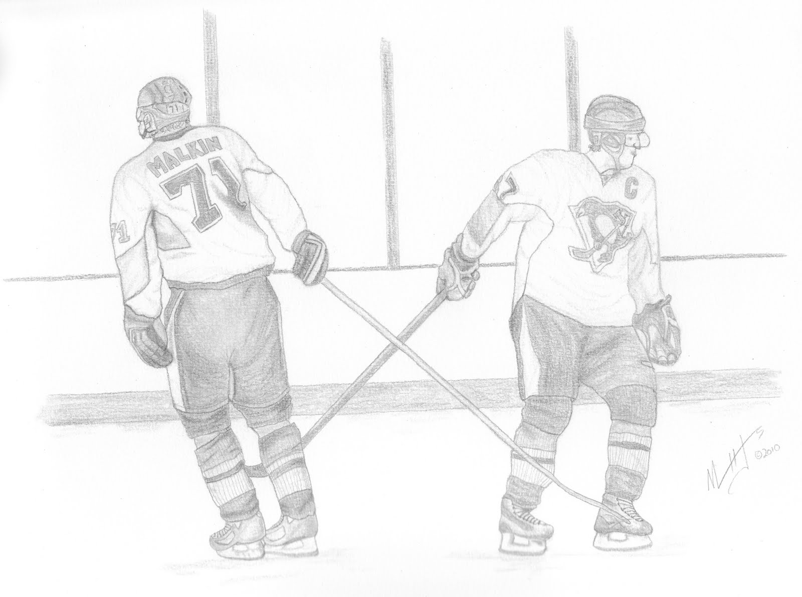 Drawing the pittsburgh penguins team mates friends for Sidney crosby coloring pages