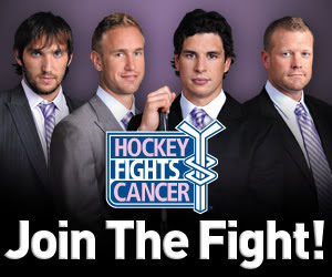 NHL Hockey Fights Cancer Web link to the NHL Shop.