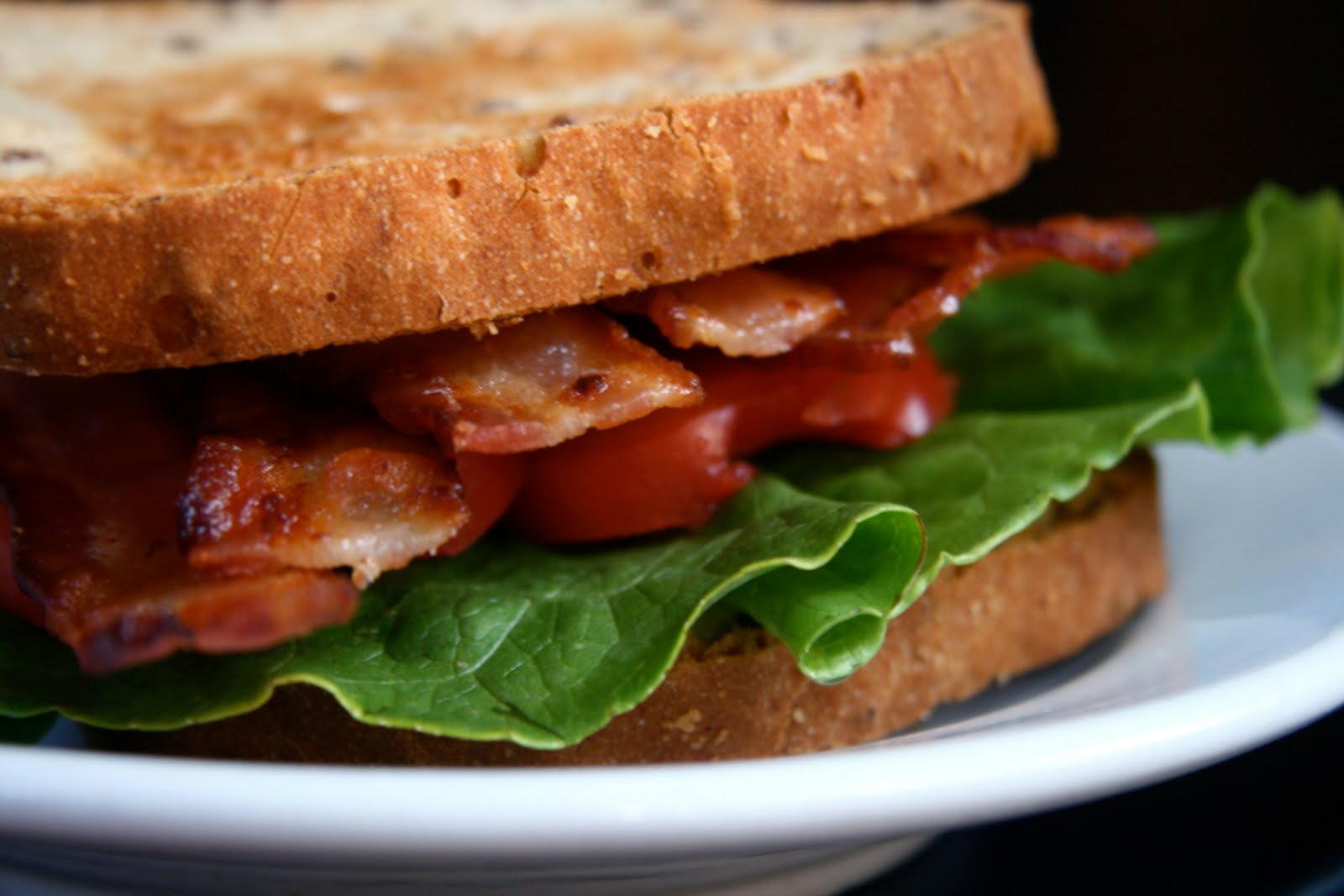 so last night was bacon lettuce and tomato sandwich night