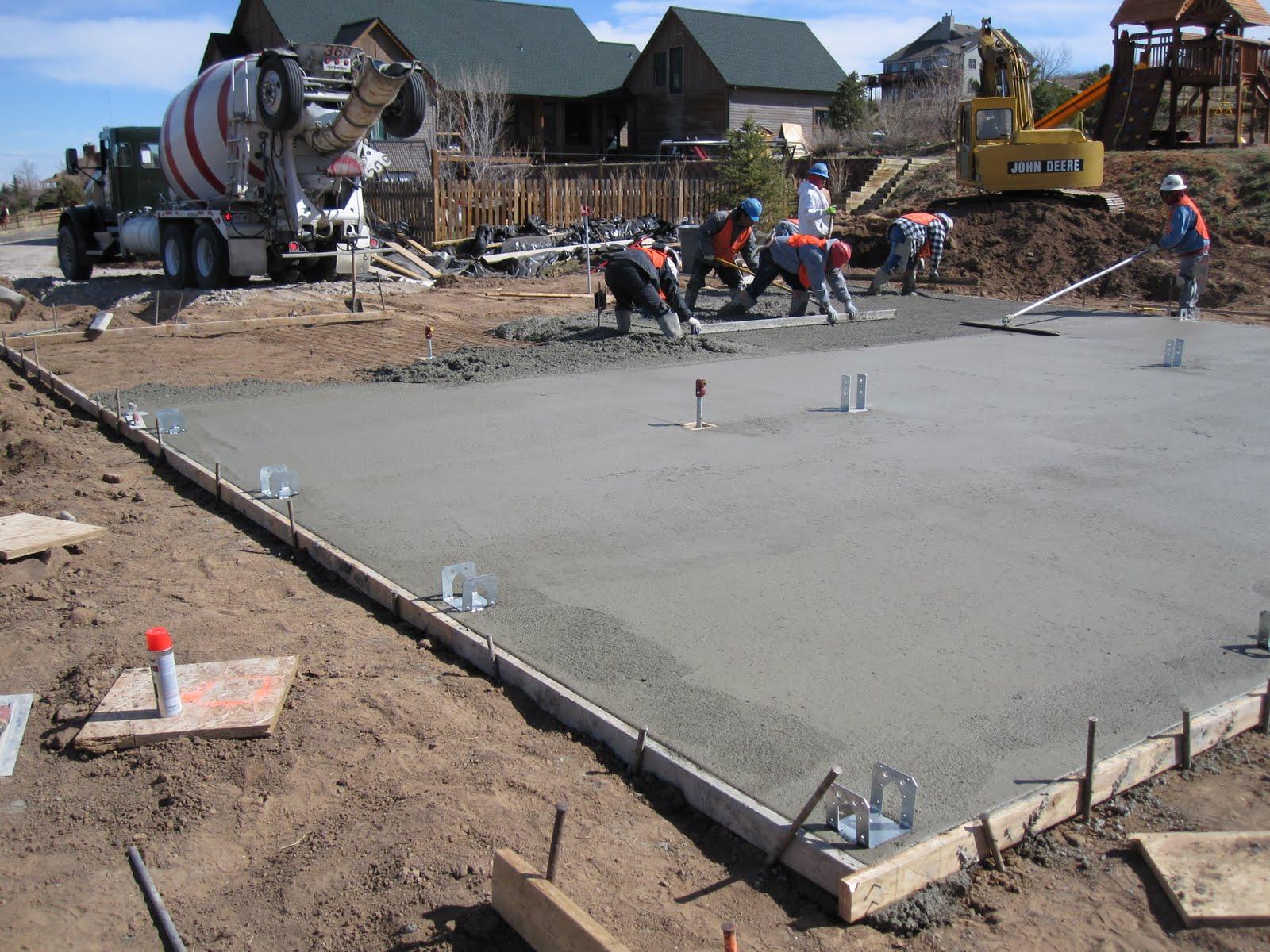 A2 construction custom barn concrete pour for What temperature to pour concrete outside