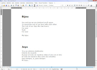 letra de las canciones en ingles traducidas: