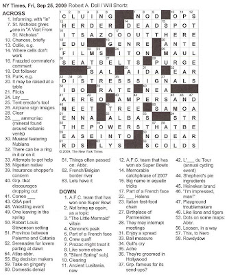 Daily Commuter Crossword Puzzle Archives