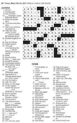 The New York Times Crossword In Gothic 020211 Letter Drop