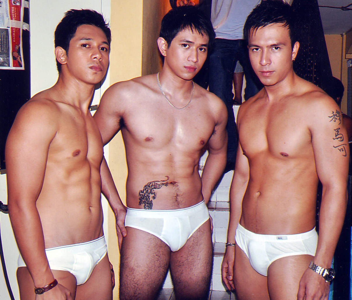 Marco, Paolo and Joash will play the role of masseurs with a