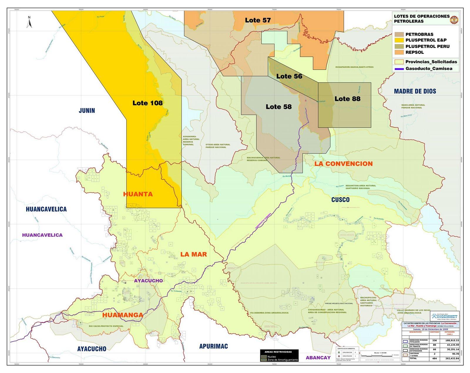 Cuenca del ene bajo amenaza por el lote petrolero 108 for Mi lote 1 ubicacion