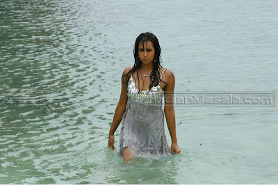 Sanjana Posing Very Hot on Beach