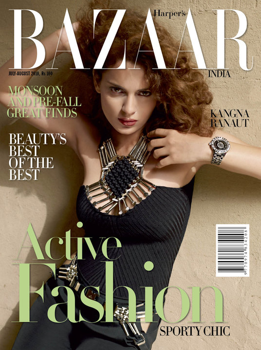 Kangna Ranaut – Harper's Bazaar India (August 2010)