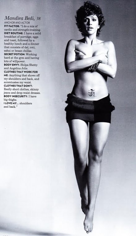 Mandira Bedi hot Vogue India (January 2011),Mandira Bedi topless,Mandira Bedi hot