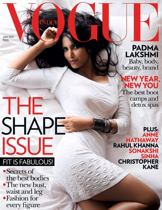 Padma Lakshmi Vogue India January 2011,Padma Lakshmi hot pics