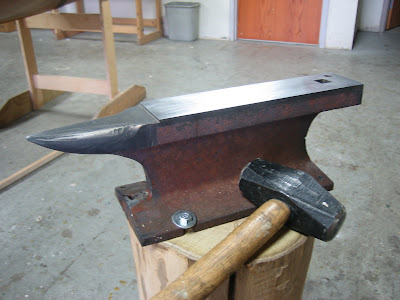 We just got finished hardening an anvil that we've shaped over the past few