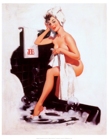 pin up girls art. Pin-Up Girl on the Telephone Art