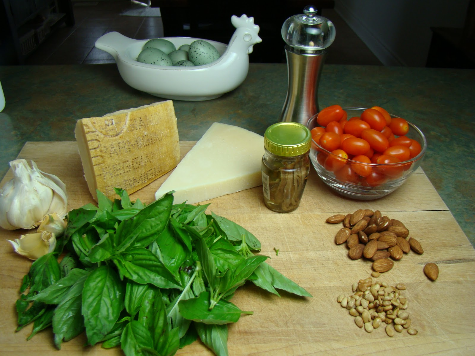In Danny's Kitchen: Tagliatelle Pasta with Basil Pesto, Anchovy and ...
