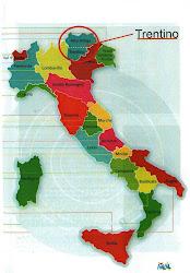 Onde fica o Trento? Dov'è il Trento?