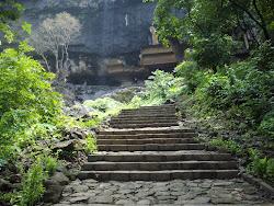 Stairway to Kondavu caves.