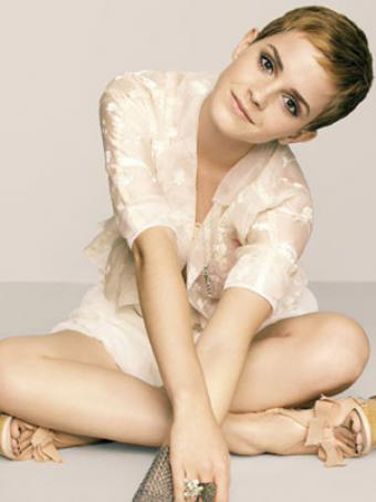 emma watson short hair 
