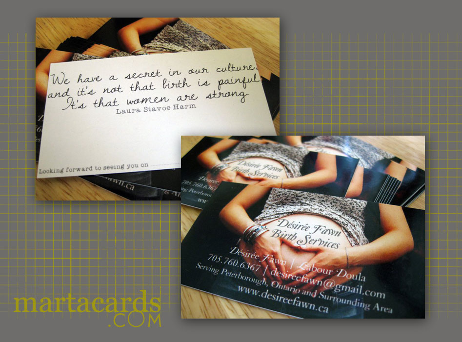 marta writes: special delivery / custom business cards
