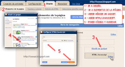 Añadir nuevo gadger html/javascript