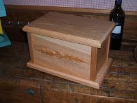 Oak burial urn