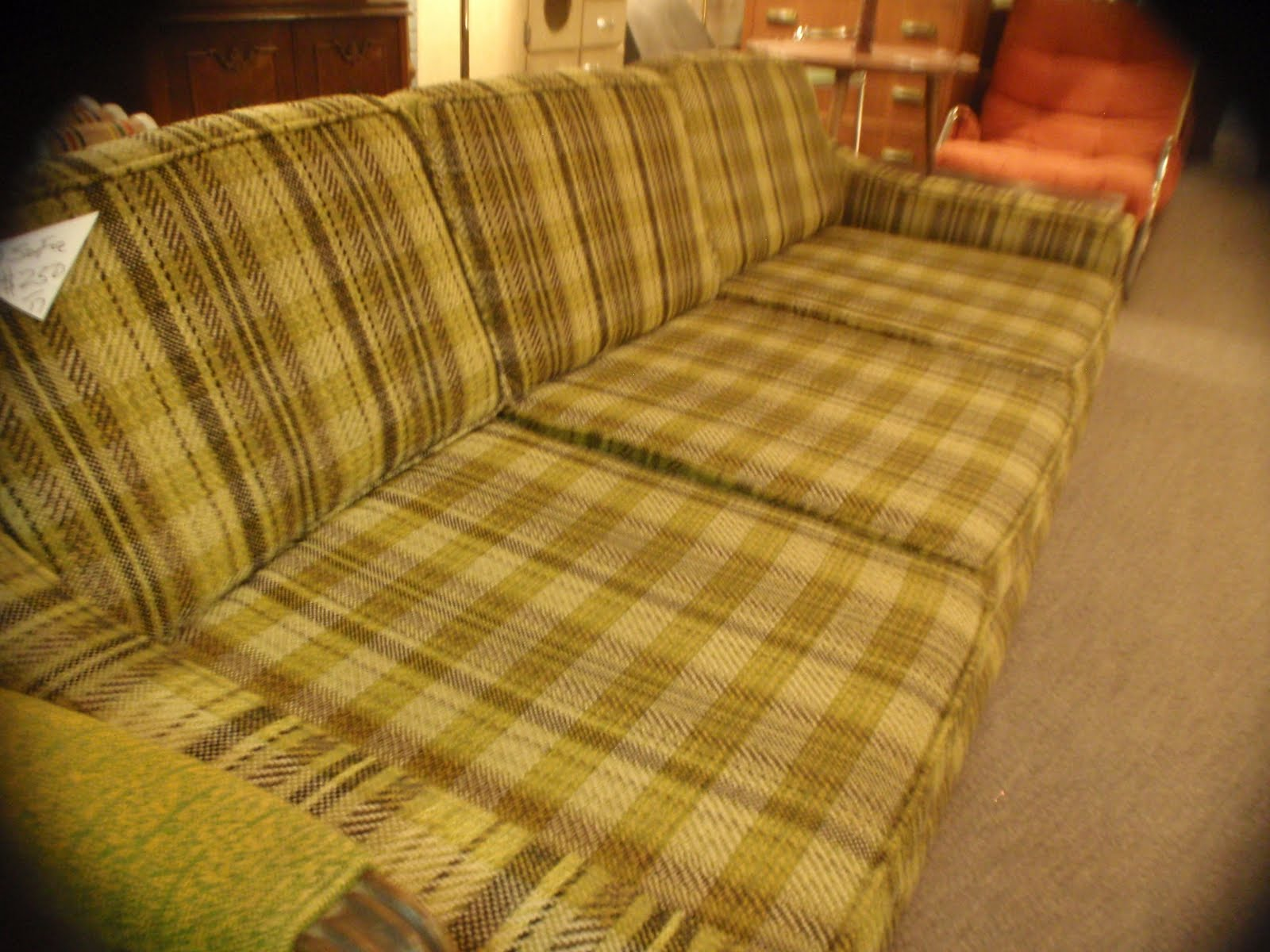 blue plaid sofa. Black Bedroom Furniture Sets. Home Design Ideas
