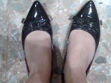mis zapatos punta usados charol
